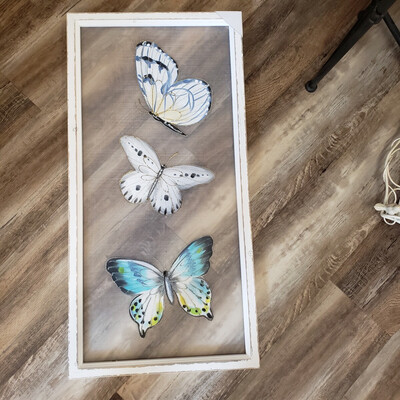 Butterfly Painted Screen