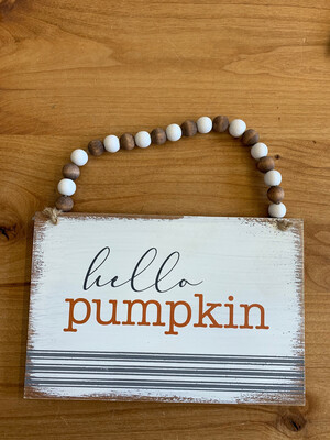 Beaded Hello Pumpkin