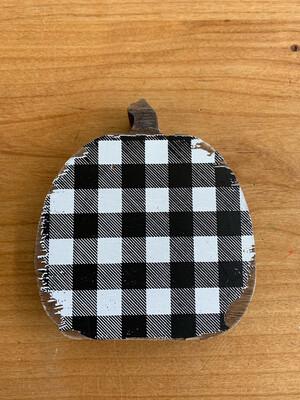 Black & White Checked Pumpkin