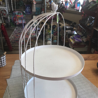 2 Tiered Bird Cage Stand
