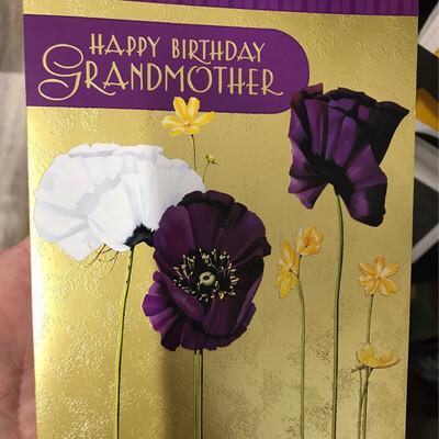Grandmother Floral Birthday