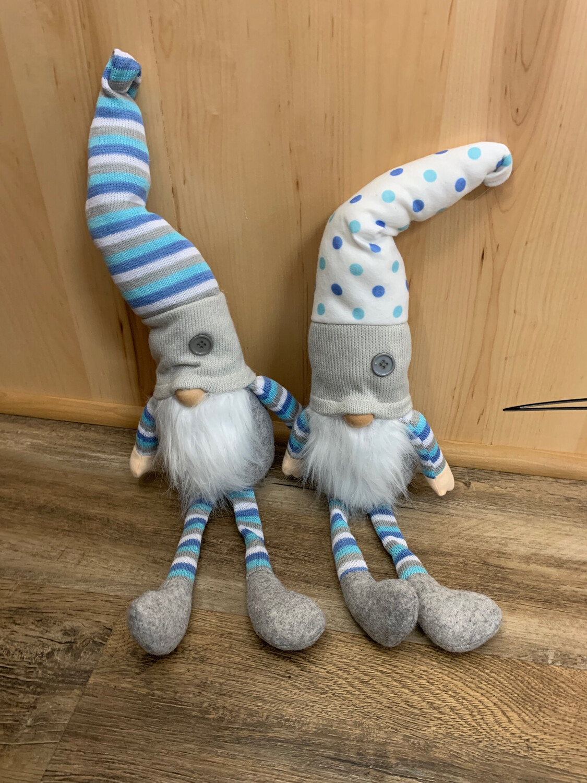 """22"""" Blue & White Stripes Gnome"""