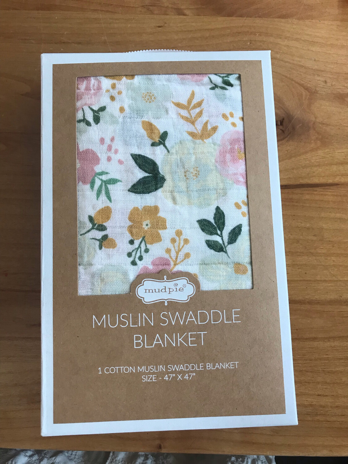 Mustard Floral Swaddle