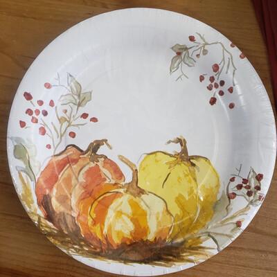 "Painted Pumpkin 10.5"" Plates"