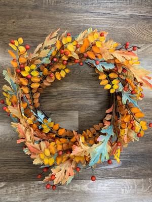 Blue Autumn Wreath