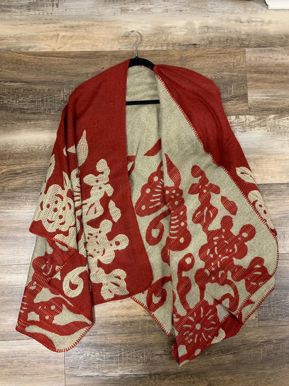 Crimson Reversible Wrap