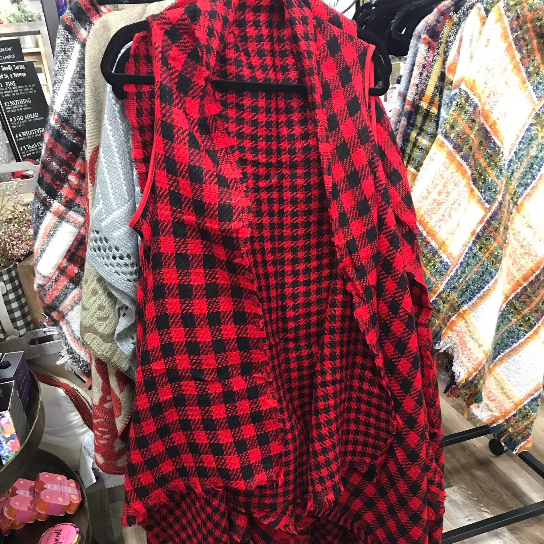 Reversible Buffalo Vest Red/Black