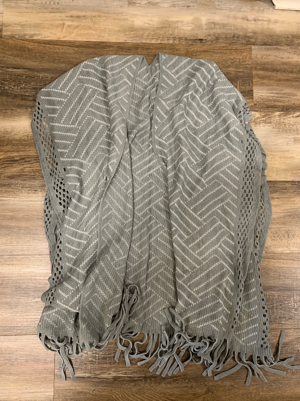 Grey & White Fringe Kimono