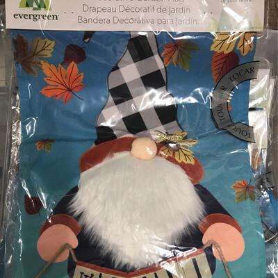 Fall Gnome Garden Flag