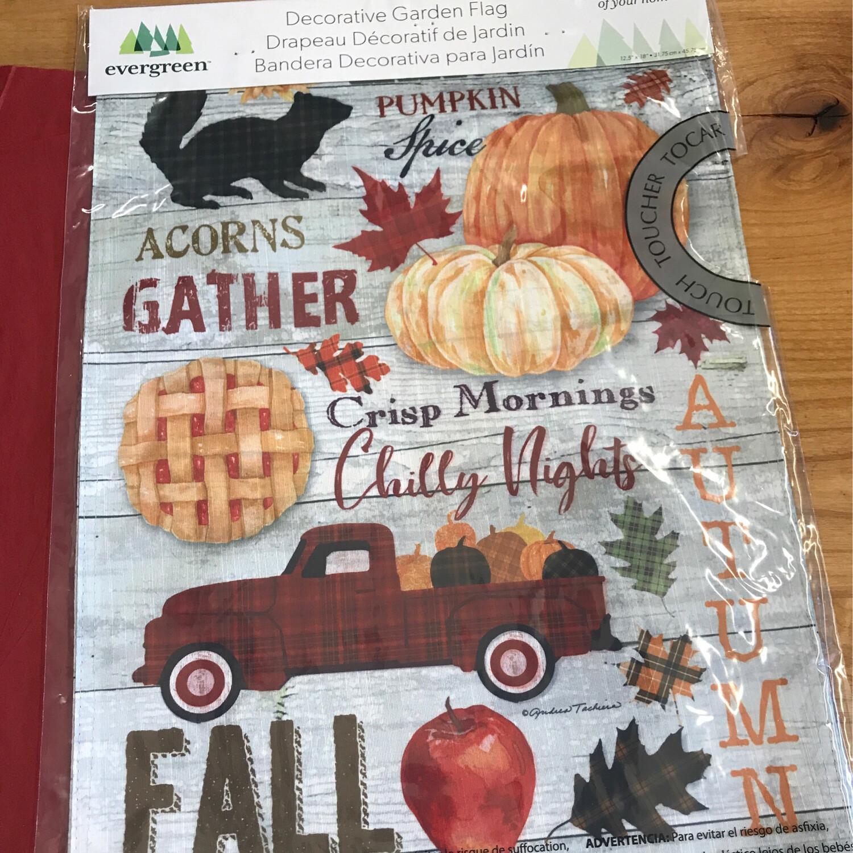 Autumn Word Collage Flag