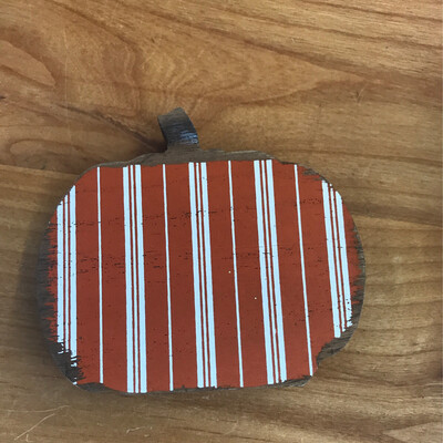 Striped Pumpkin Sitter