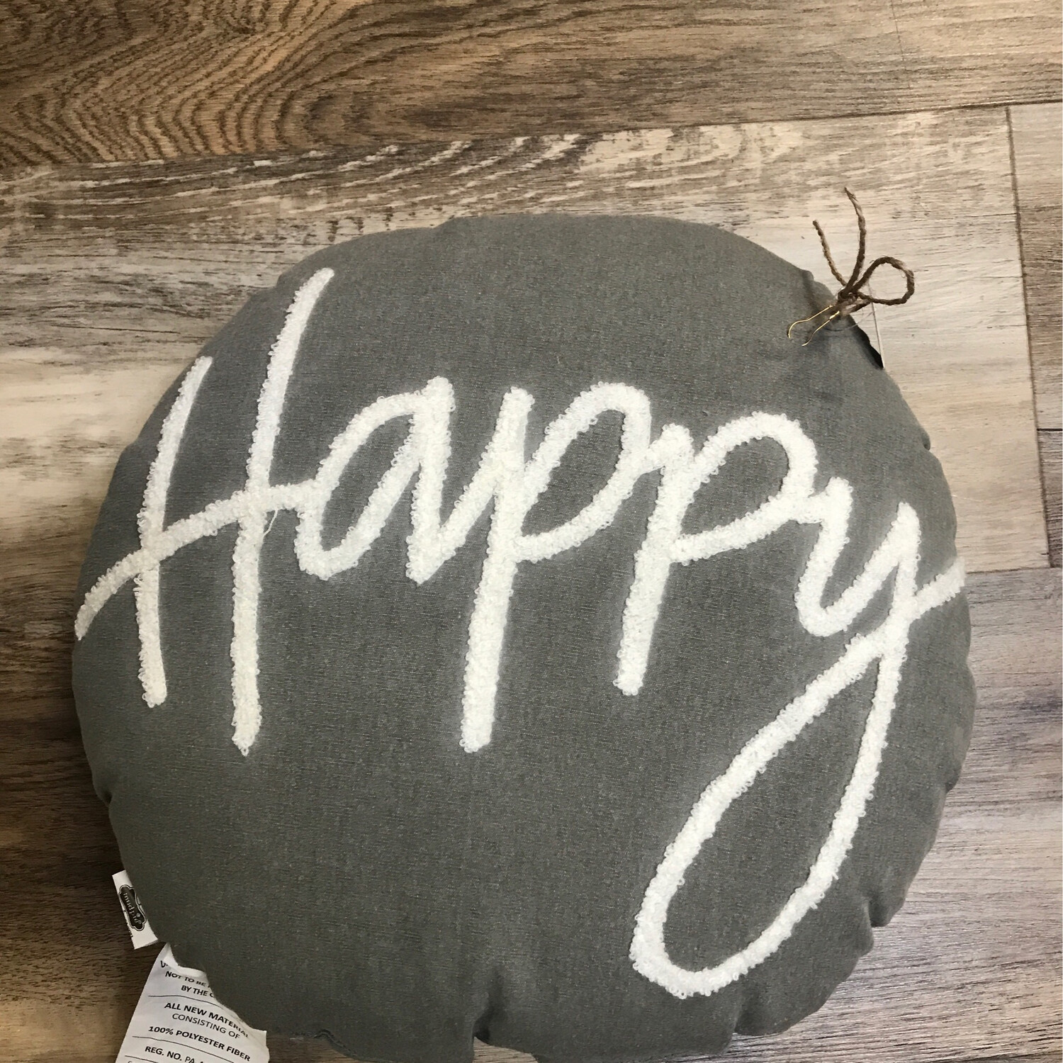 Hooked Happy Pillow
