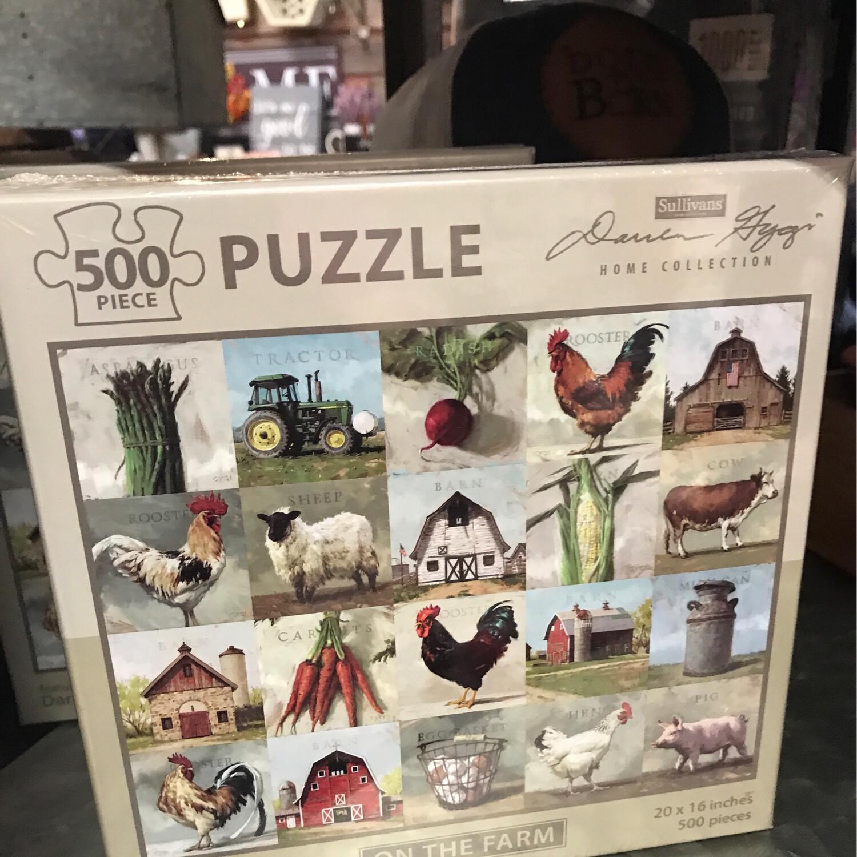 """20"""" x 16"""" 500pc Farm Puzzle"""