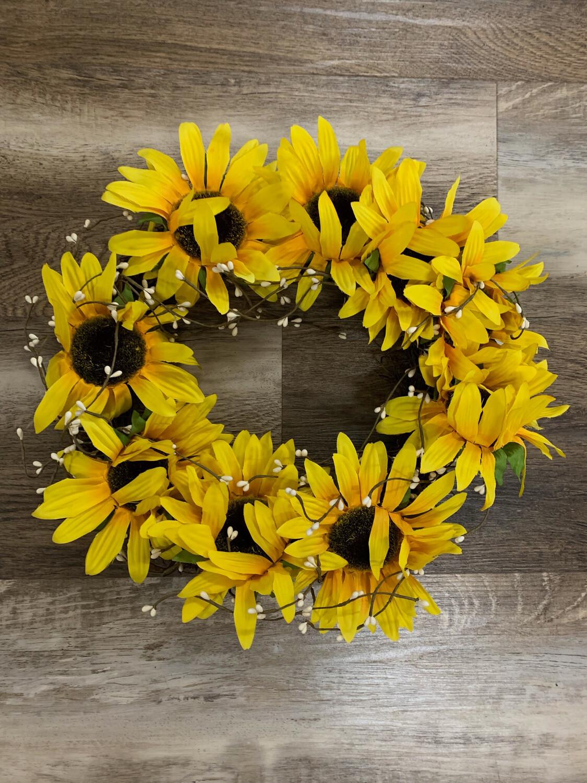 Sunflower Berry Wreath