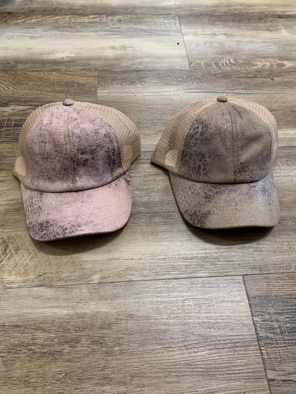 CC Vintage Faux Leather Hat