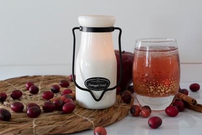 Cranapple Punch Milk Bottle Candle