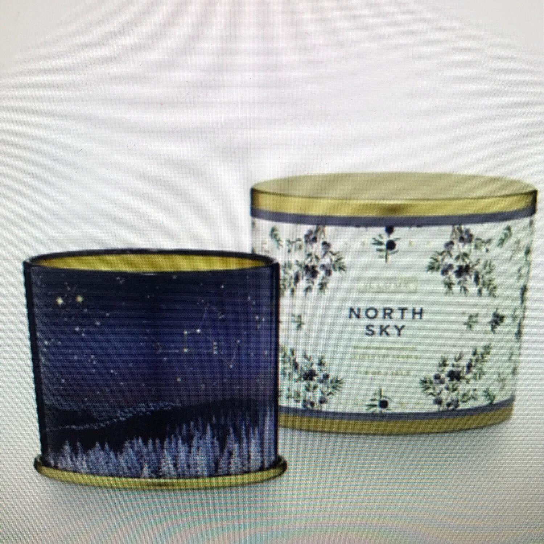North Sky LG Tin Candle