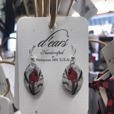 Cardinal Drop Earrings