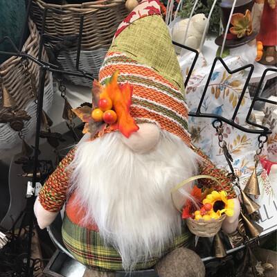 """17"""" Harvest Basket Gnome"""