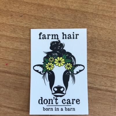 Farm Hair Sticker