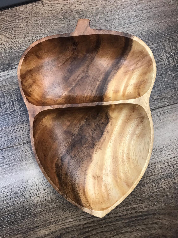 Acorn Wooden Bowl