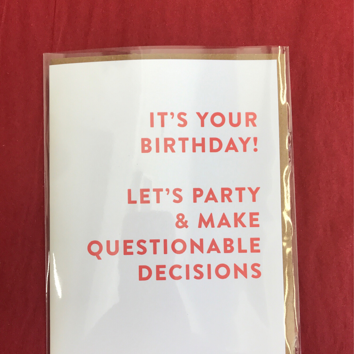 Questionable Decisions Card