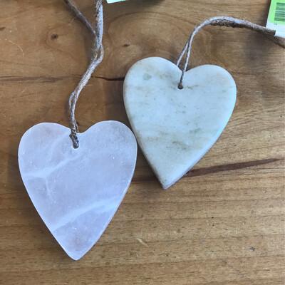 Soapstone Heart Ornament