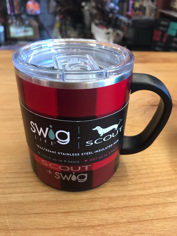SWIG 12oz Camper Mug Flannel Red