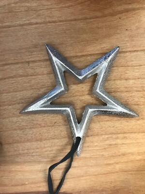 """3-3/4"""" Metal Star Ornament"""