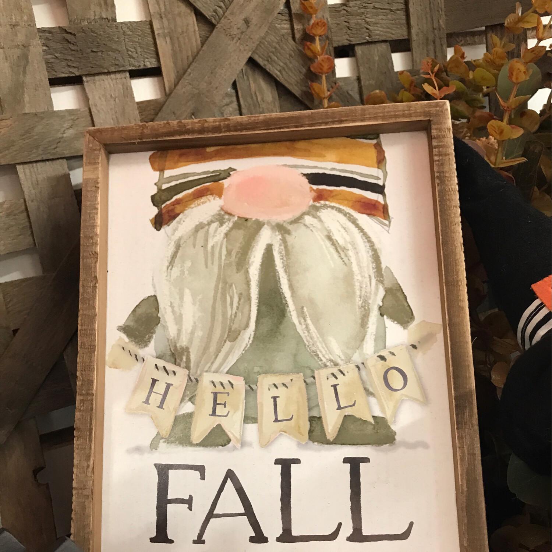 Gnome Fall Sign