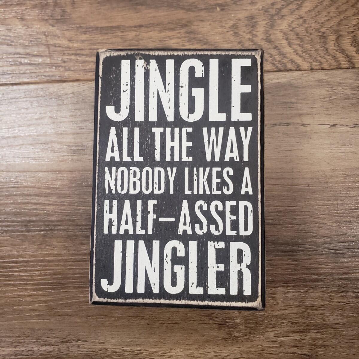 Half Assed Jingler Sign & Socks Set