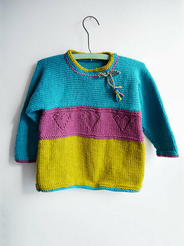 Jo-Jo Sweater Pattern FREE with purchase of Berroco Comfort yarn recommended in pattern