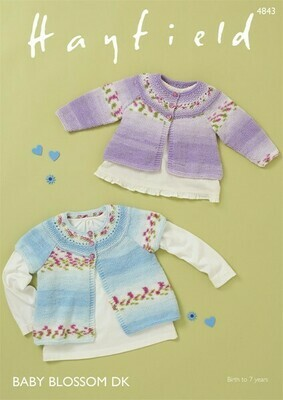 Hayfield Baby Sweaters Pattern 4843