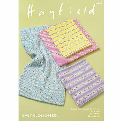Hayfield Baby Blossom Blanket DK 4840