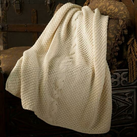 Appalachian Irish Cable Baby  Blanket Pattern