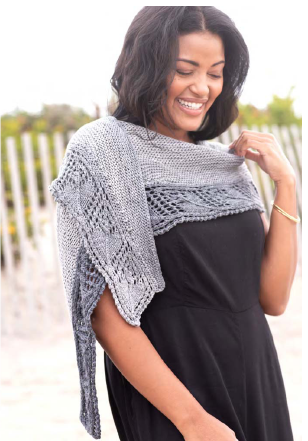 Ashby Shawl FREE PATTERN with purchase of Berroco Esteva yarn recommended in pattern