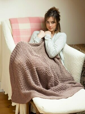 Blossfeldt Blanket-FREE pattern with purchase of Berroco Vintage yarn recommended in pattern