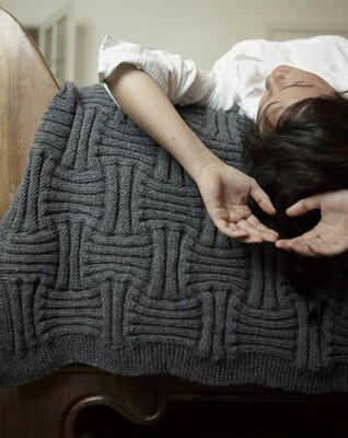 Basketweave Classic Superwash Wool Blanket Kit