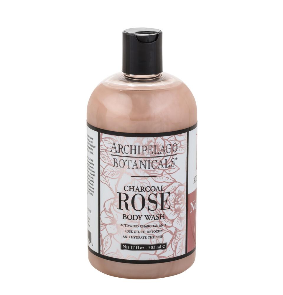 Archipelago Charcoal Rose Bodywash 17oz.