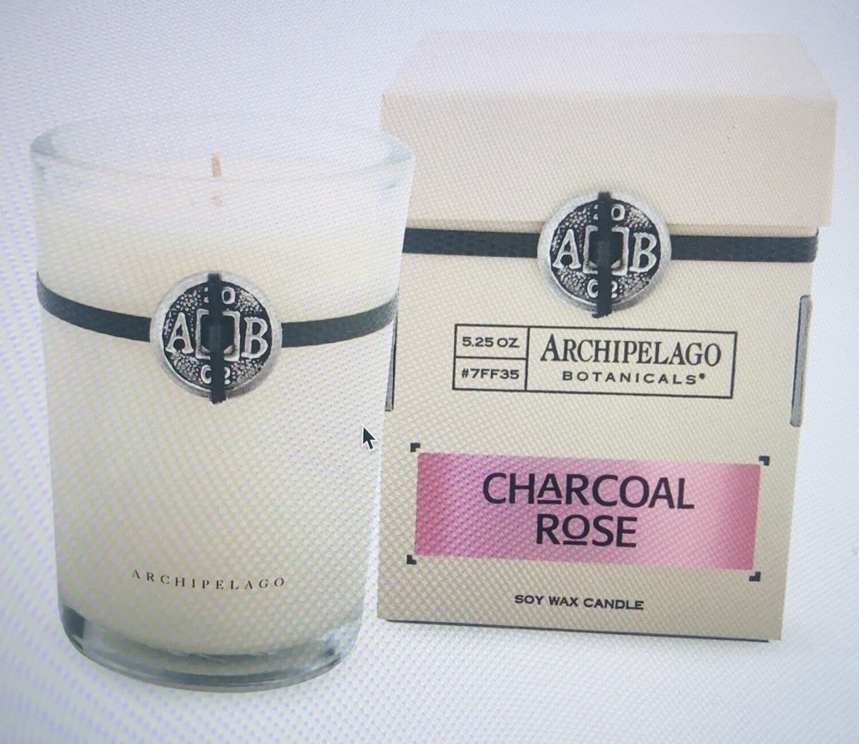 Archipelago Charcoal Rose Candle