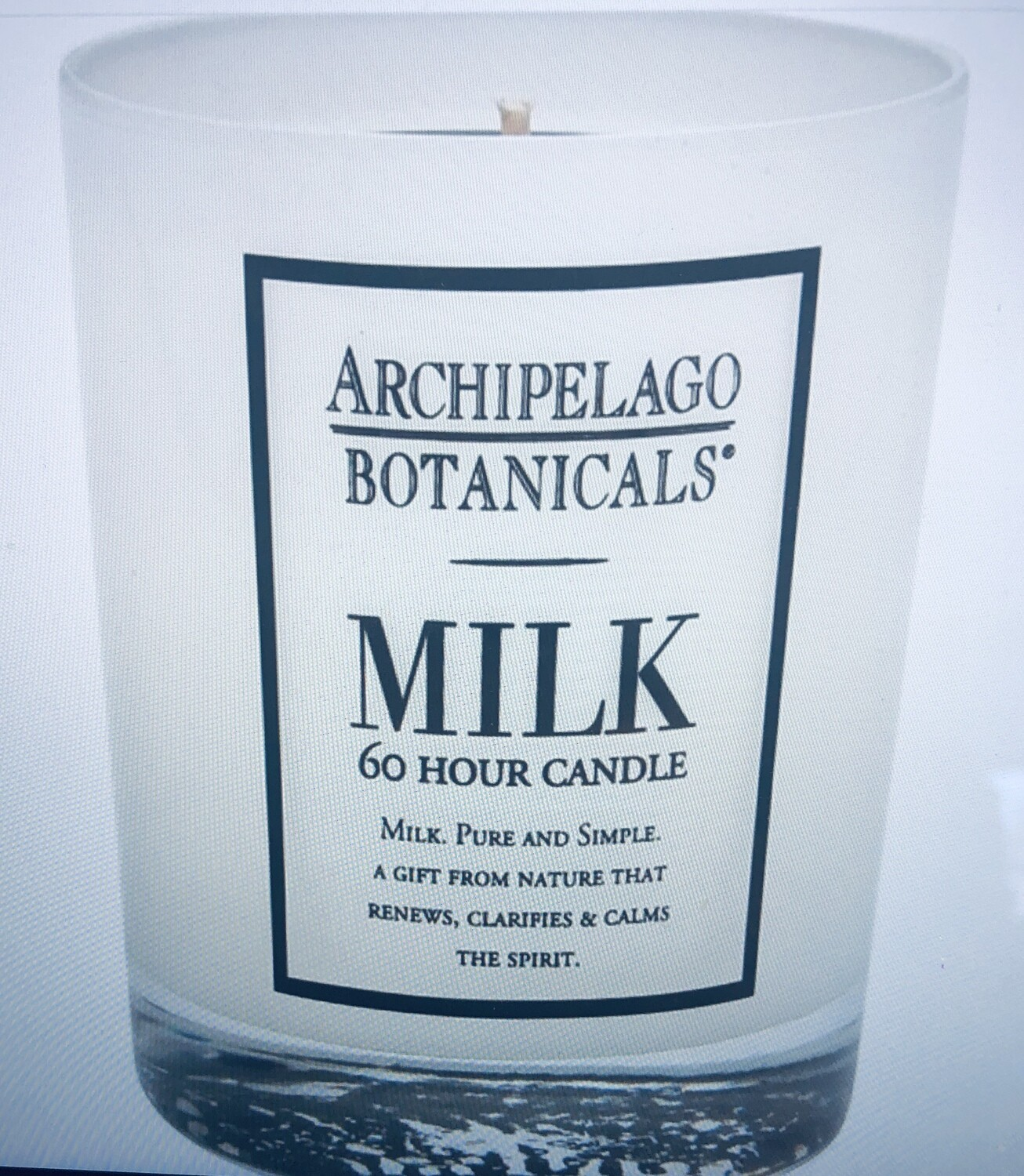 Archipelago Milk glass candle