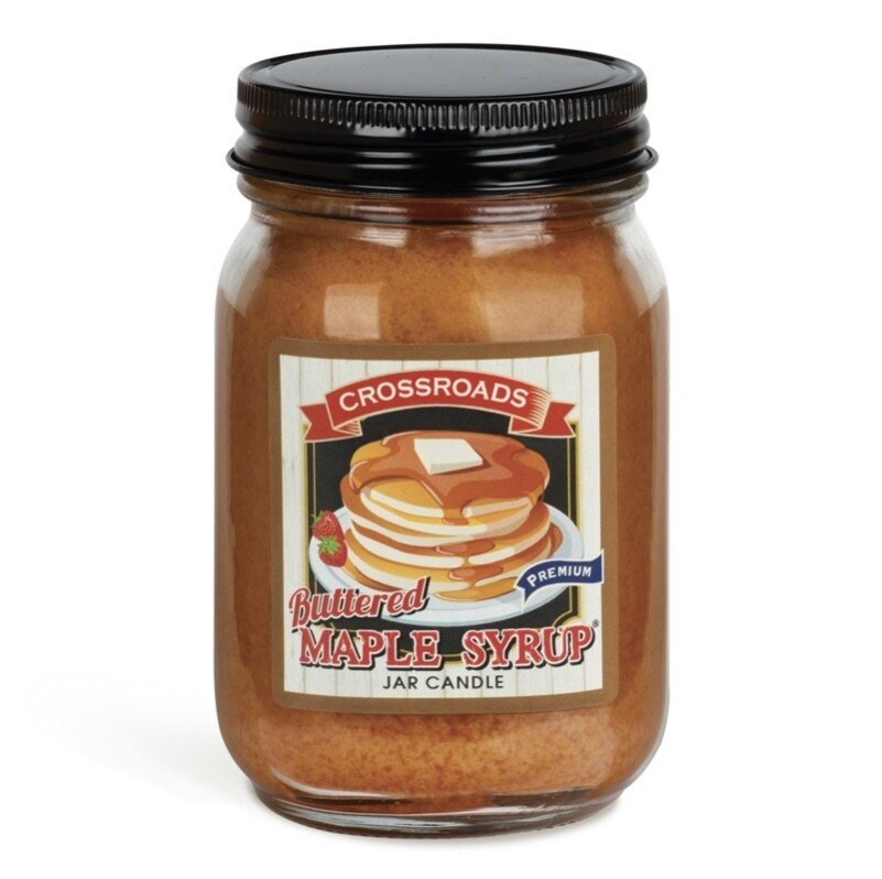 Crossroads Pint Buttered Maple Syrup candle