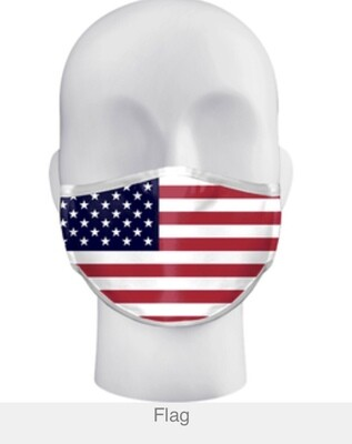 Alleson 3-ply Sublimated Mask Flag Design