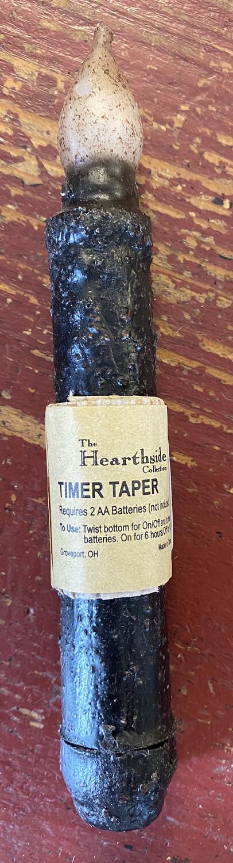 """Hearthside 6"""" black timer taper"""