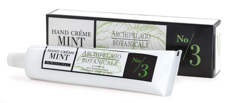 Archipelago Morning Mint hand creme 3.2 oz.