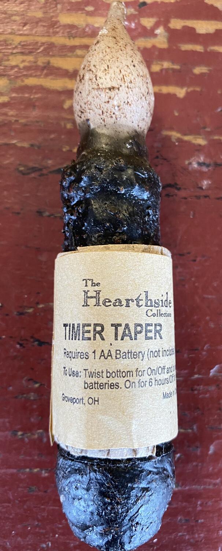 """Hearthside 4"""" black timer taper"""