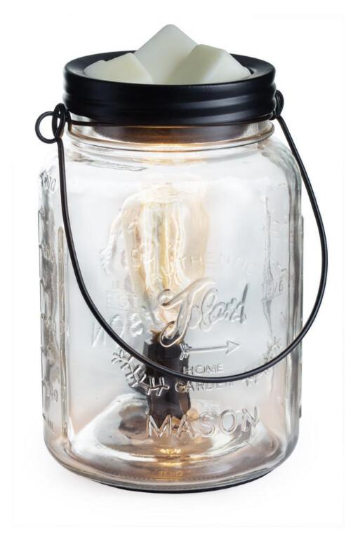 Candle Warmers Edison Bulb Mason Jar Warmer