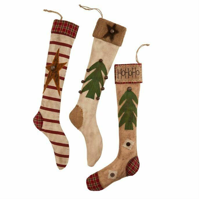 Mudpie Vintage Skinny Stocking