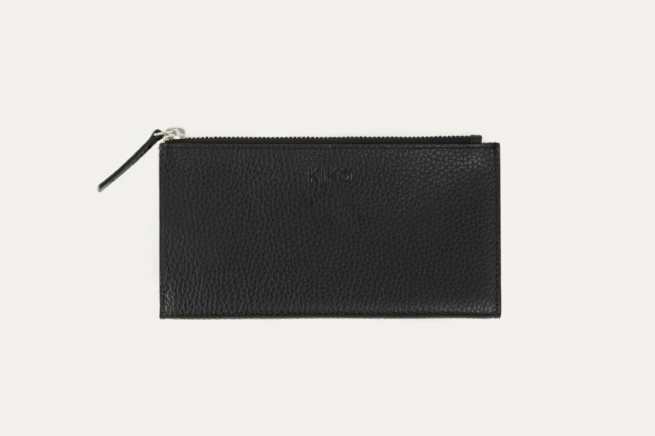 KIKO leather top zip wallet