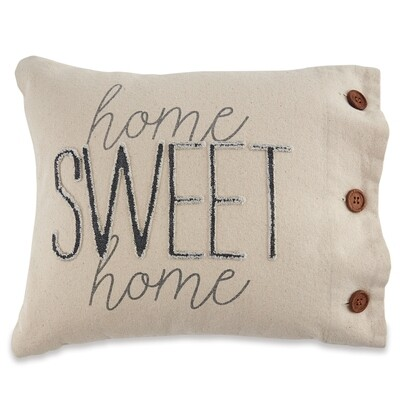 Mudpie Home Sweet Home Canvas Pillow